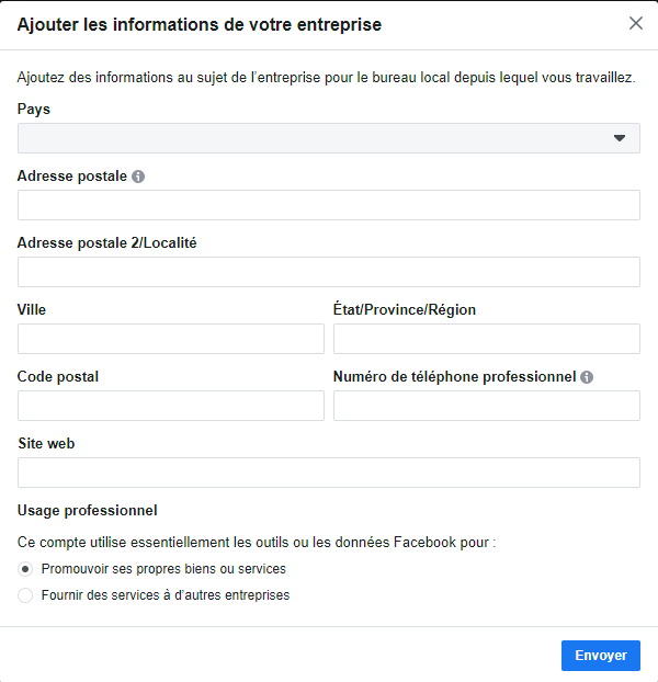 Facebook business informations suite