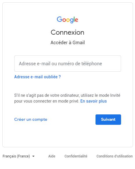creer votre compte gmail