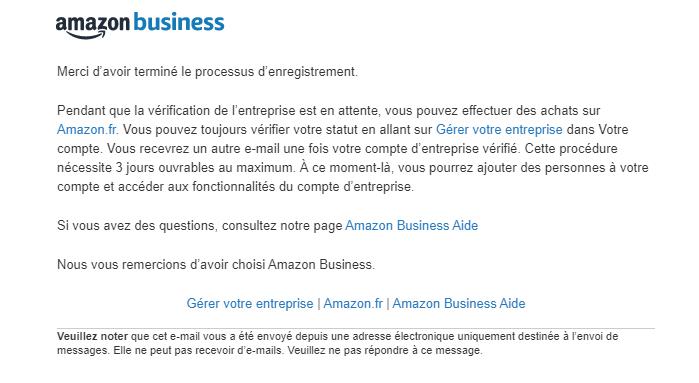 versification société Amazon business