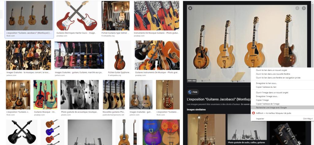 rechercher une image avec google