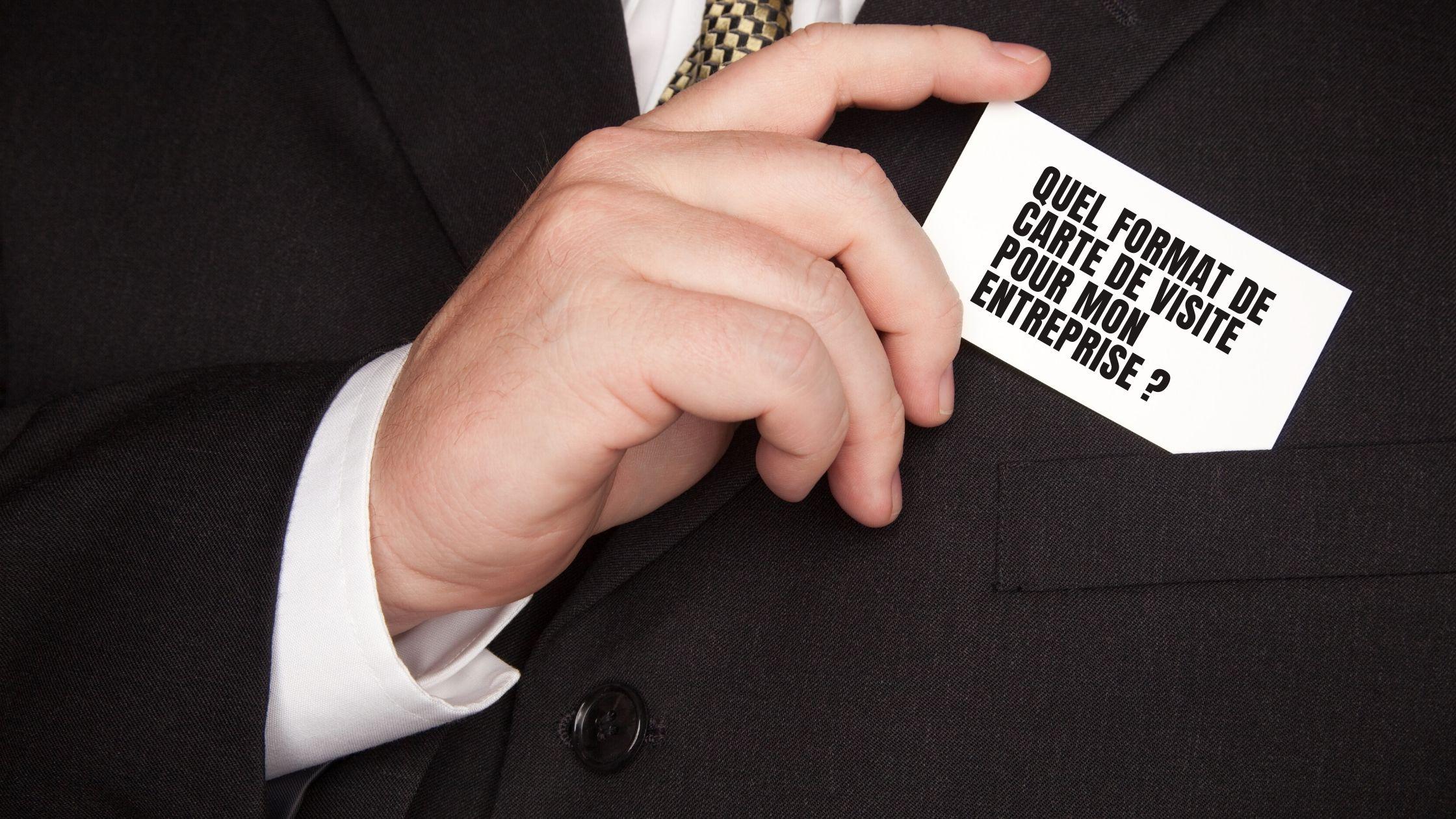 Format carte de visite entreprise